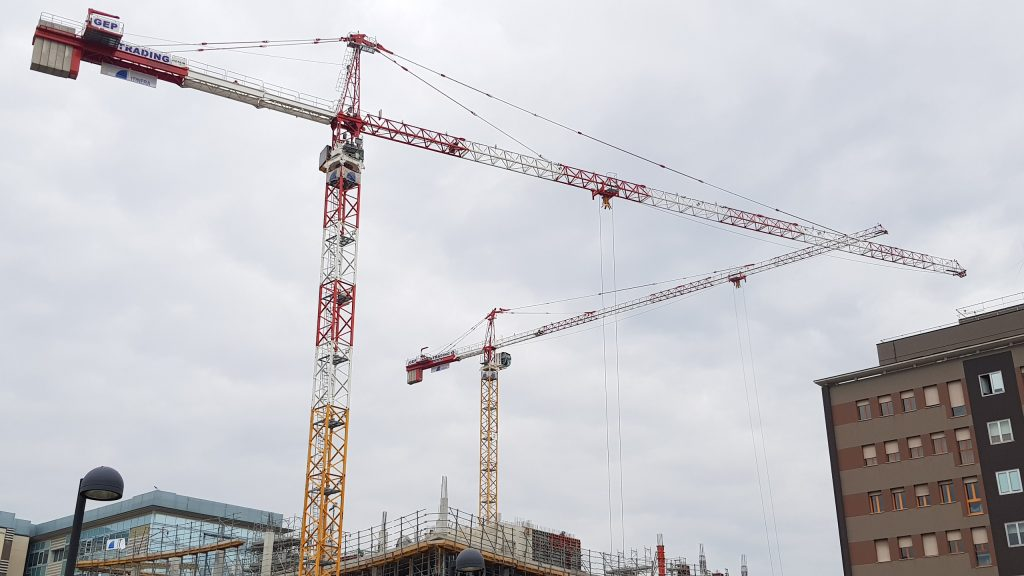 Rent tower crane POTAIN MD 365 and MD 265